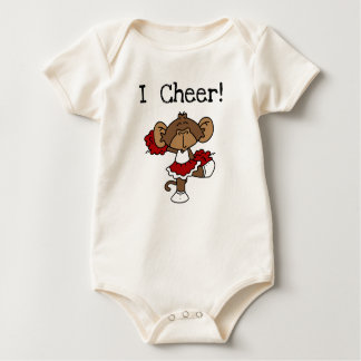 Monkey Cheerleader Red and White Tshirts and Gifts