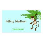 Monkey Children's Calling Card