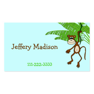 Monkey Children's Calling Card Double-Sided Standard Business Cards (Pack Of 100)