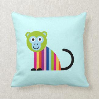 Monkey Chimp Cute Colorful Cartoon Animal Pillow