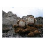 monkey_chimp_rushmore.JPG Tarjeta Postal
