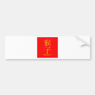 """Monkey"" Chinese astrology sign Bumper Sticker"