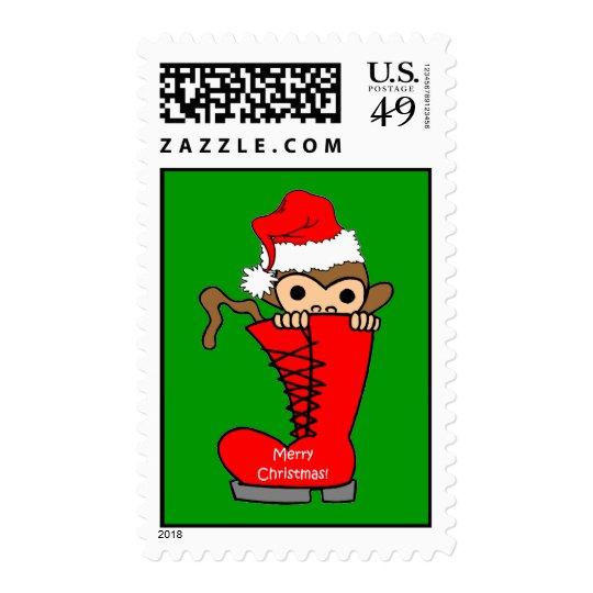 monkey Christmas Postage