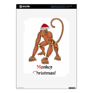 Monkey Christmas Skin For iPad 3