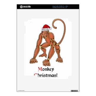 Monkey Christmas Skins For iPad 2