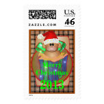 Monkey Christmas Stamp