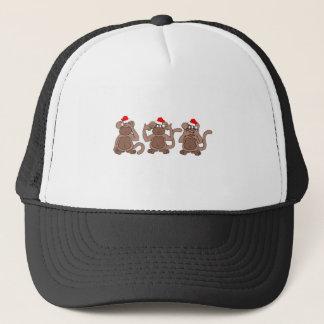 monkey Christmas Trucker Hat