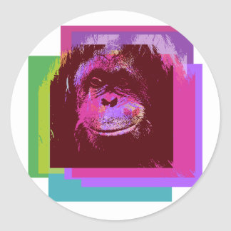 monkey classic round sticker