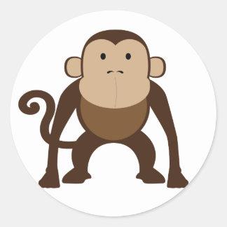 Monkey Classic Round Sticker