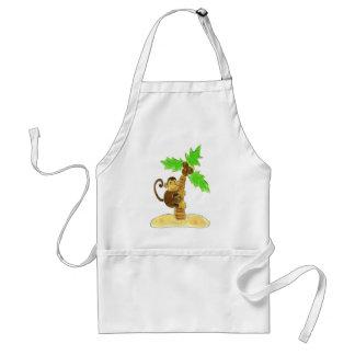 monkey climbing tree adult apron