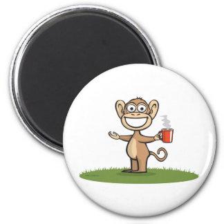 Monkey Coffee Magnet