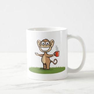 Monkey Coffee Classic White Coffee Mug