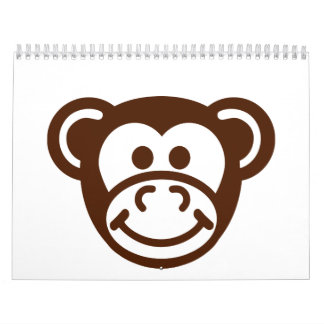 Monkey comic face calendar