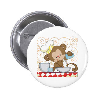 Monkey Cook Pinback Buttons