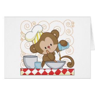 Monkey Cook Greeting Card