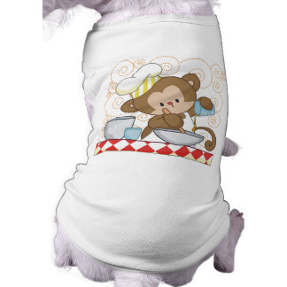 Monkey Cook Dog T-shirt