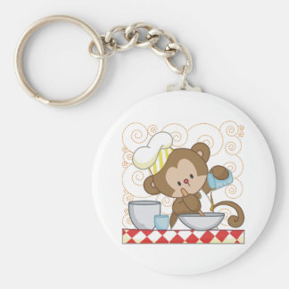 Monkey Cook Keychains