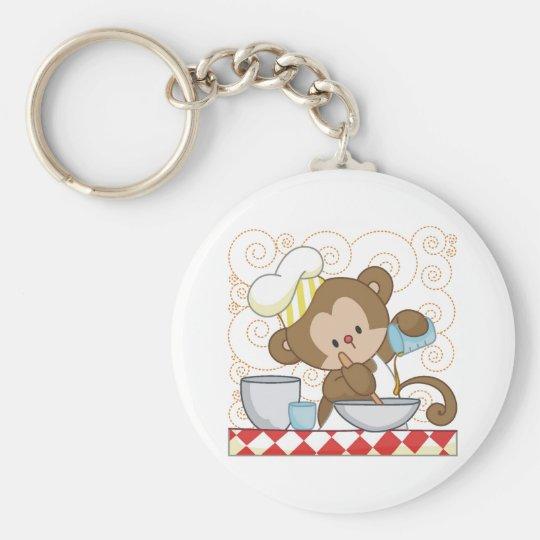 Monkey Cook Keychain