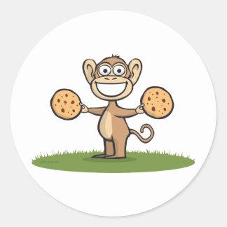 Monkey Cookies Classic Round Sticker