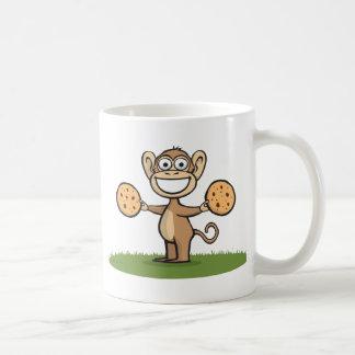 Monkey Cookies Classic White Coffee Mug