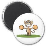 Monkey Cookies Refrigerator Magnet