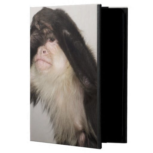Monkey covering its eyes iPad air case