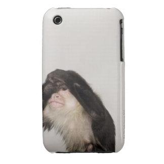 Monkey covering its eyes iPhone 3 case