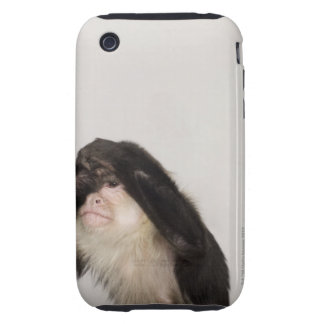 Monkey covering its eyes tough iPhone 3 case