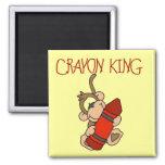 Monkey Crayon King Tshirts and Gifts Refrigerator Magnet