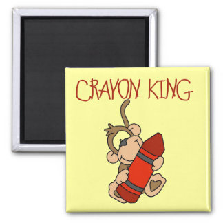 Monkey Crayon King Tshirts and Gifts Refrigerator Magnet