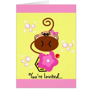 Monkey & Cupcake Card
