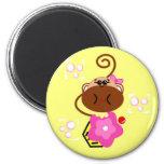 Monkey & Cupcake Magnets
