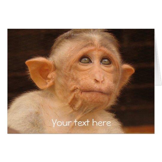 Monkey, Custom Father's Day Card