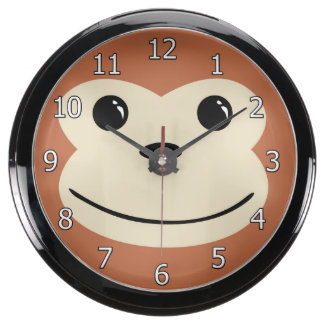 Monkey Cute Animal Face Design Aquavista Clock