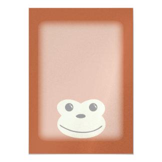 Monkey Cute Animal Face Design Card