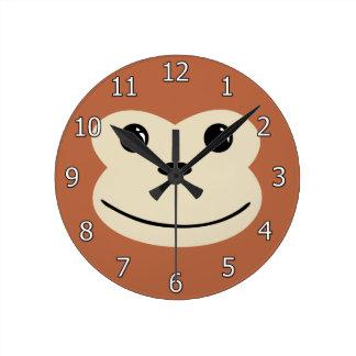 Monkey Cute Animal Face Design Clocks