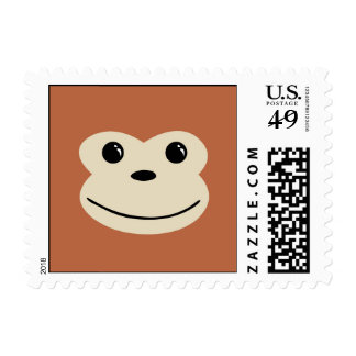 Monkey Cute Animal Face Design Postage