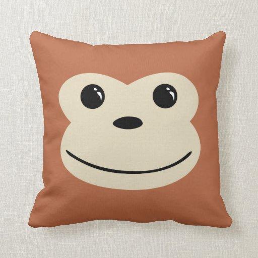 Monkey Cute Animal Face Design Throw Pillow Zazzle