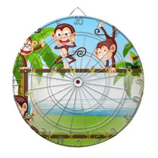 Monkey Dartboard With Darts