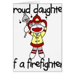 Monkey Daughter of Firefighter Greeting Card
