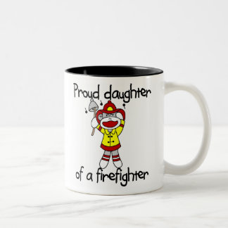 Monkey Daughter of Firefighter Two-Tone Coffee Mug