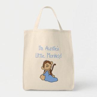Monkey de tía - camisetas y regalos azules bolsa de mano