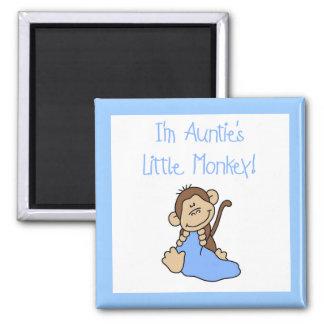 Monkey de tía - camisetas y regalos azules iman