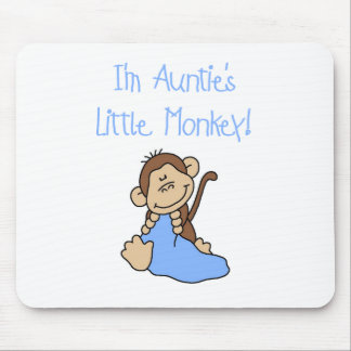 Monkey de tía - camisetas y regalos azules tapetes de raton