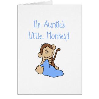 Monkey de tía - camisetas y regalos azules tarjetón