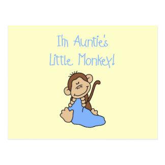 Monkey de tía - camisetas y regalos azules tarjetas postales
