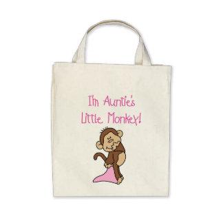 Monkey de tía - camisetas y regalos rosados bolsa lienzo