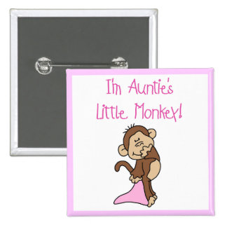 Monkey de tía - camisetas y regalos rosados pins