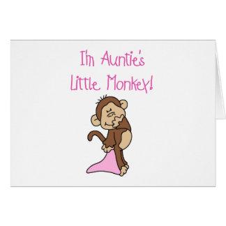 Monkey de tía - camisetas y regalos rosados felicitación