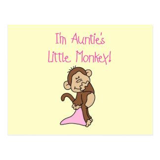 Monkey de tía - camisetas y regalos rosados tarjeta postal